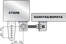 Доводчик на калитку без верхней перекладины